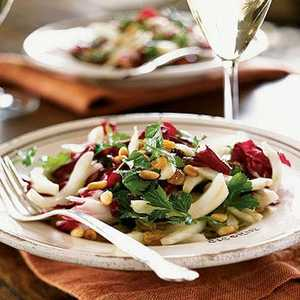 Fennel, Parsley, and Radicchio Salad with Pine Nuts and Raisins Recipe