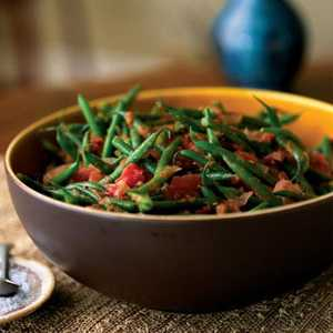 Green Beans with Roasted Tomatoes and CuminRecipe
