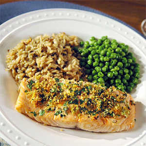 <p>Roasted Salmon with Citrus and Herbs</p>
