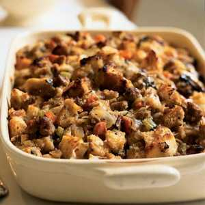Sourdough Stuffing with Pears and SausageRecipe