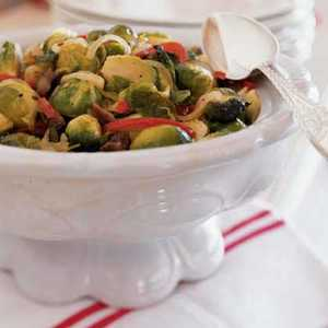 Roasted Brussels Sprouts with ChestnutsRecipe