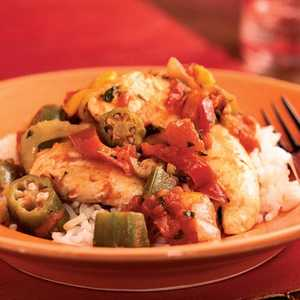 <p>Creole Chicken and Vegetables</p>