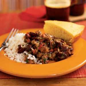 <p>Andouille and Red Beans with Rice</p>