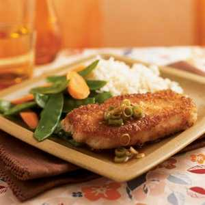 Wasabi and Panko-Crusted Pork with Gingered Soy SauceRecipe