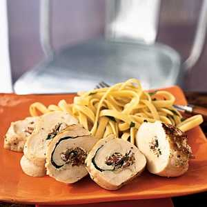 Chicken Roulade with Herbed Cheese and ProsciuttoRecipe