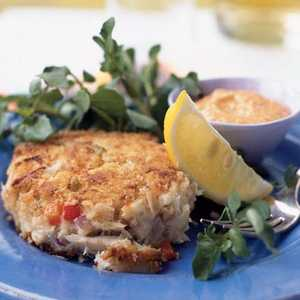 Crab Cakes with Red Pepper MayonnaiseRecipe