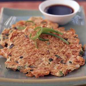 Shredded Carrot-Ginger Pancakes with Asian Dipping SauceRecipe