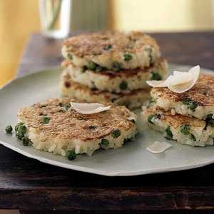 Arborio Rice, Parmesan, and Green Pea Pancakes Recipe