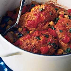 Tagine of Chicken and Chickpeas Recipe