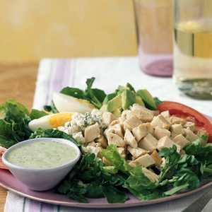 Cobb Salad with Green Goddess Dressing Recipe