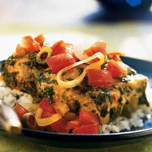 Fish Tagine with Preserved Lemon and Tomatoes Recipe