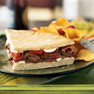 Grilled Beef and Pepper SandwichRecipe