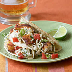 <p>Fish Tacos with Cabbage Slaw</p>