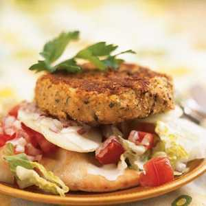 Open-Faced Falafel BurgersRecipe