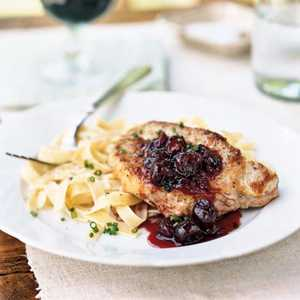Pork Chops with Cherry Preserves SauceRecipe