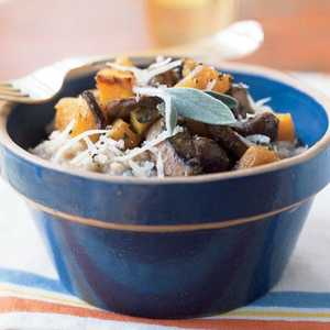 Steel-Cut Oat Risotto with Butternut Squash and MushroomsRecipe