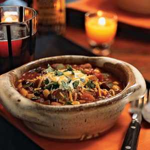 Three-Bean Chili with Vegetables Recipe