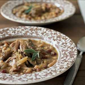 Pork Roast with White Beans and Cranberries Recipe