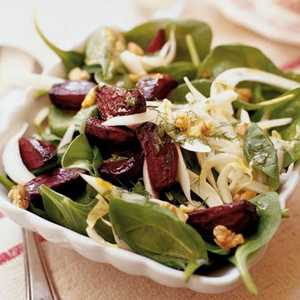 Roasted Beet, Fennel, and Walnut Salad Recipe