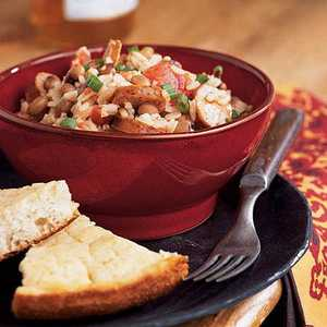 Black-Eyed Peas and Rice with Andouille SausageRecipe