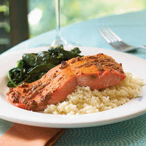 Spiced Salmon with Mustard SauceRecipe
