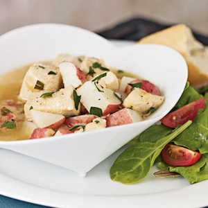 Braised Chicken with Red Potatoes and Tarragon BrothRecipe