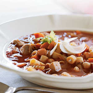 Chicken, Pasta, and Chickpea Stew Recipe