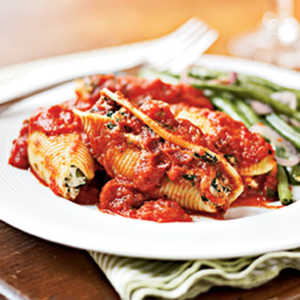 Spinach and Ricotta-Stuffed Shells Recipe