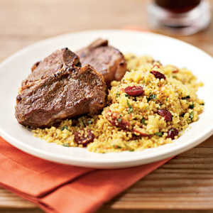 <p>Broiled Cumin Lamb Chops with Curried Couscous</p>