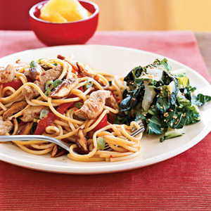 <p>Teriyaki Pork and Vegetables with Noodles</p>