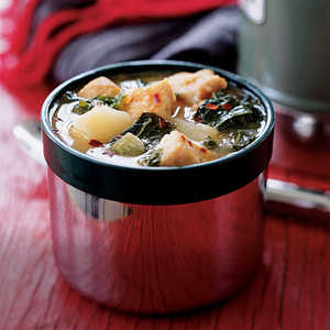 Dijon Chicken Stew with Potatoes and Kale Recipe