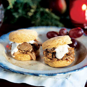 Alabama Pulled Pork Sandwiches with White Barbecue SauceRecipe