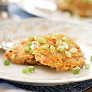 Potato-Scallion Latkes Recipe