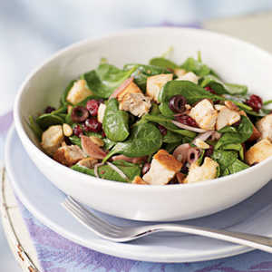Bread Salad with Cranberries, Spinach, and ChickenRecipe