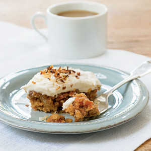 Carrot Cake with Toasted Coconut Cream Cheese FrostingRecipe
