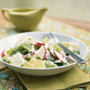 Romaine Salad with Edamame and Creamy Horned Melon Dressing Recipe