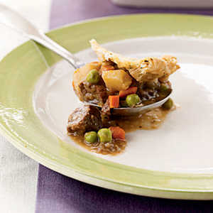 Beef and Leek Potpie with Chive CrustRecipe