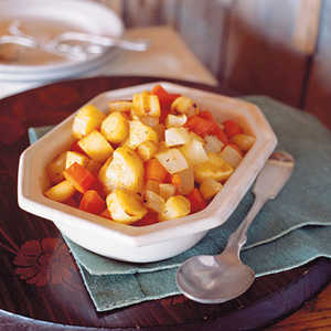 Roasted Root Vegetables with Maple Glaze Recipe