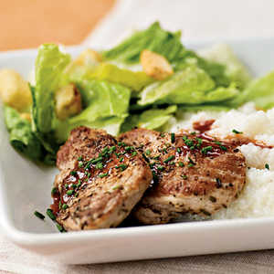 <p>Pork Medallions with Red Currant Sauce</p>