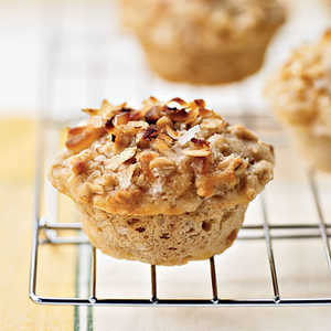 Tropical Muffins with Coconut-Macadamia ToppingRecipe