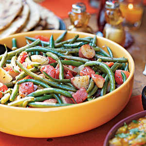 Green Beans and Potatoes in Chunky Tomato SauceRecipe