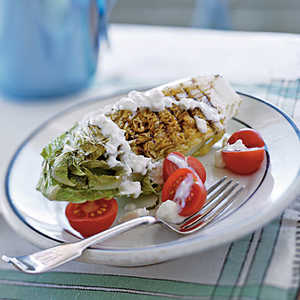 Grilled Romaine with Blue Cheese DressingRecipe