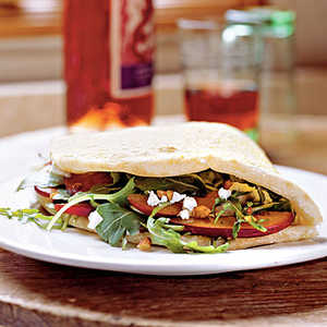 Goat Cheese and Greens PiadineRecipe