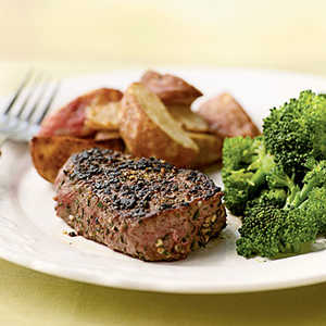 <p>Filet Mignon with Fresh Herb and Garlic Rub</p>