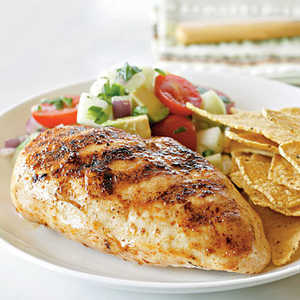 Chicken Breasts with Avocado, Tomato, and Cucumber SalsaRecipe