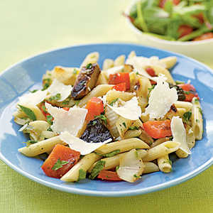 Herbed Penne with Simple Grilled VegetablesRecipe