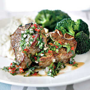 Lamb Chops with Herb VinaigretteRecipe