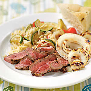 Lamb Steaks with Herbes de Provence and Grilled Sweet Onions Recipe