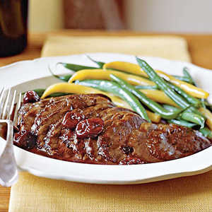 Duck Breasts with Pinot Noir and Cherry SauceRecipe