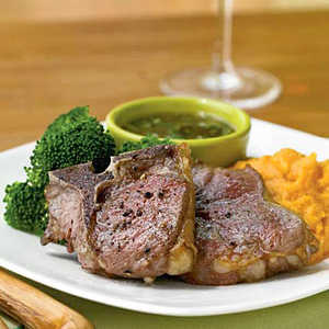 Lamb Chops with Mint-Fig Sauce Recipe